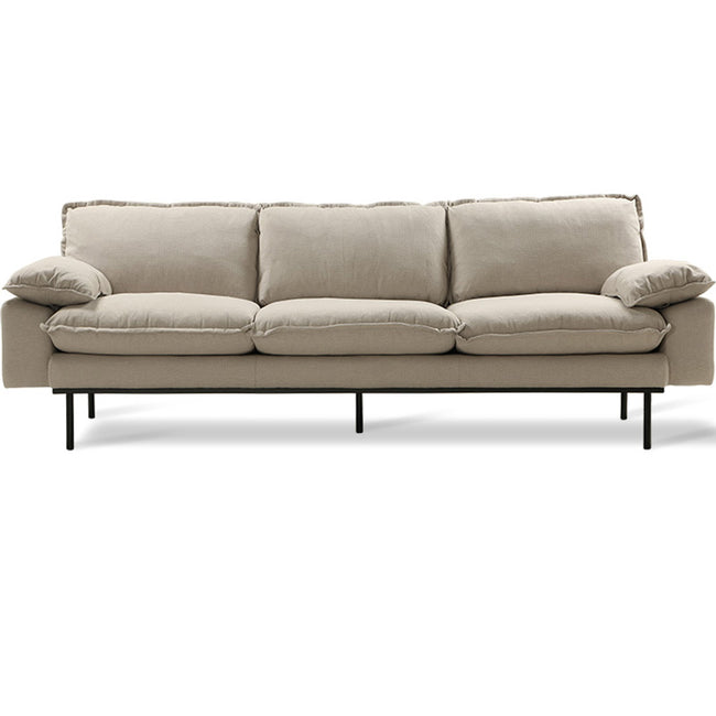 HK-Living Retro sofa 4-seater cosy beige