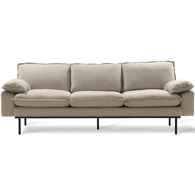 HK-Living Retro sofa 3-seater cosy beige