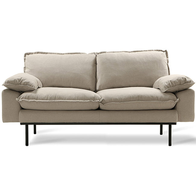 HK-Living Retro sofa 2-seater cosy beige