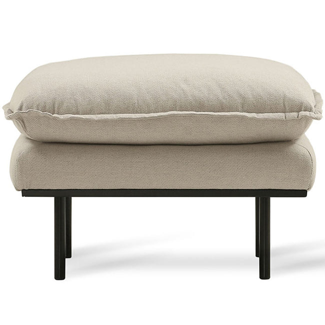 HK-Living Retro sofa stool- cosy beige
