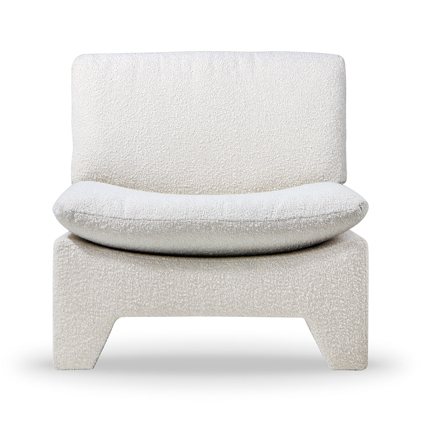 HK-Living Retro Lounge Armchair Boucle Cream