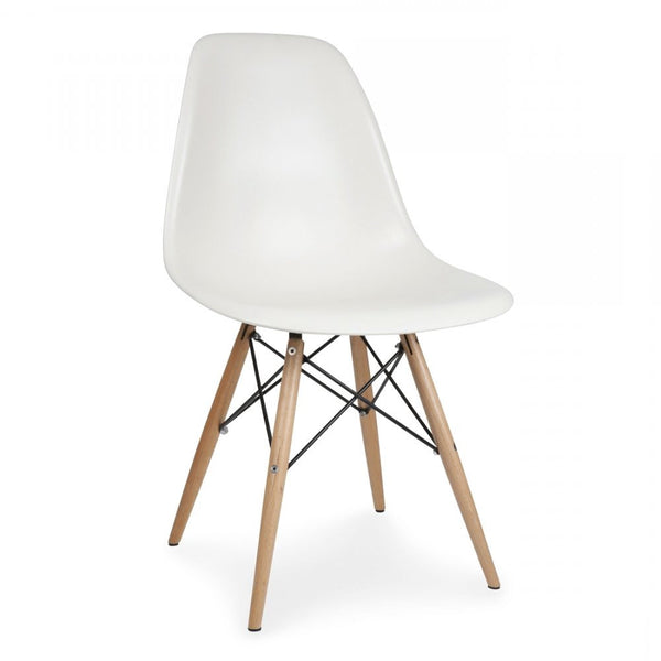 Charles Ray Eames Style Dsw Side Chair White Natural