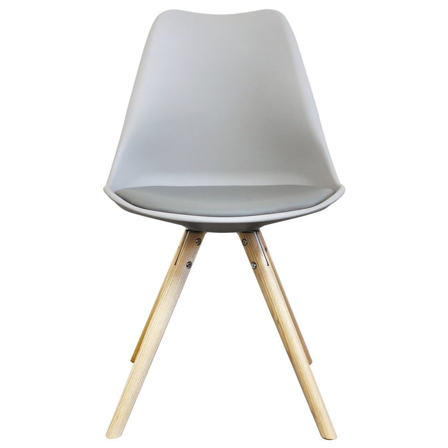 Charles Ray Eames Inspired I-DSW Chair Natural Pyramid Legs - Multicolors