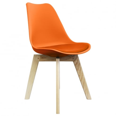 Charles Ray Eames Inspired I-DSW Chair Natural Squared Legs - Multicolors