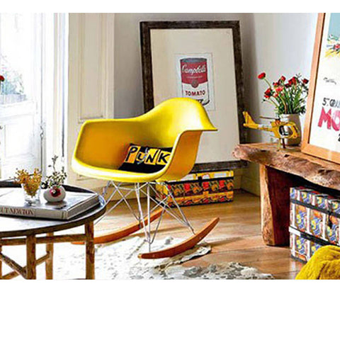 Attractive ... Charles Ray Eames Style RAR Rocking Chair   Yellow
