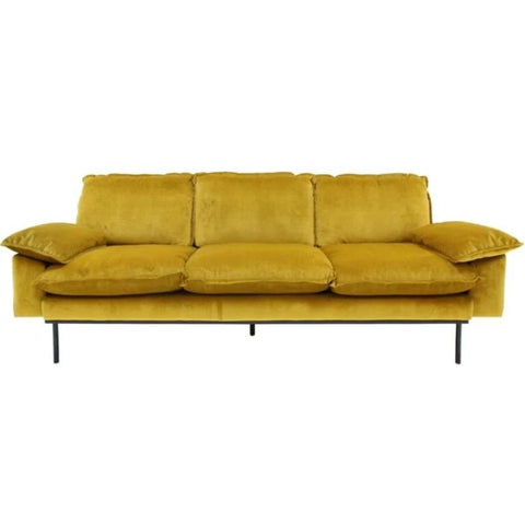 HK-Living Retro sofa 4-seater leather, mint green