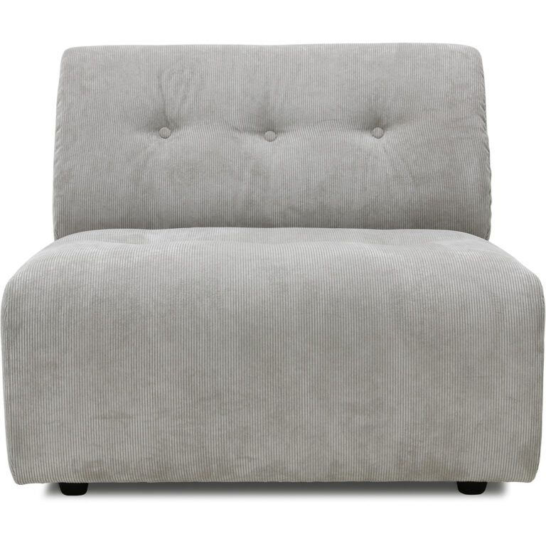 HK-Living vint couch: element middle, corduroy rib, cream