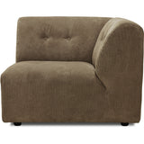 HK-Living vint couch: element right, corduroy rib, brown
