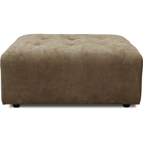 HK-Living vint couch: element hocker, corduroy rib, brown