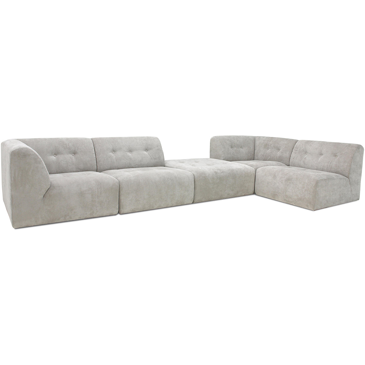 HK Living vint couch: element middle, corduroy rib, cream