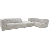 HK-Living vint couch: element hocker, corduroy rib, cream