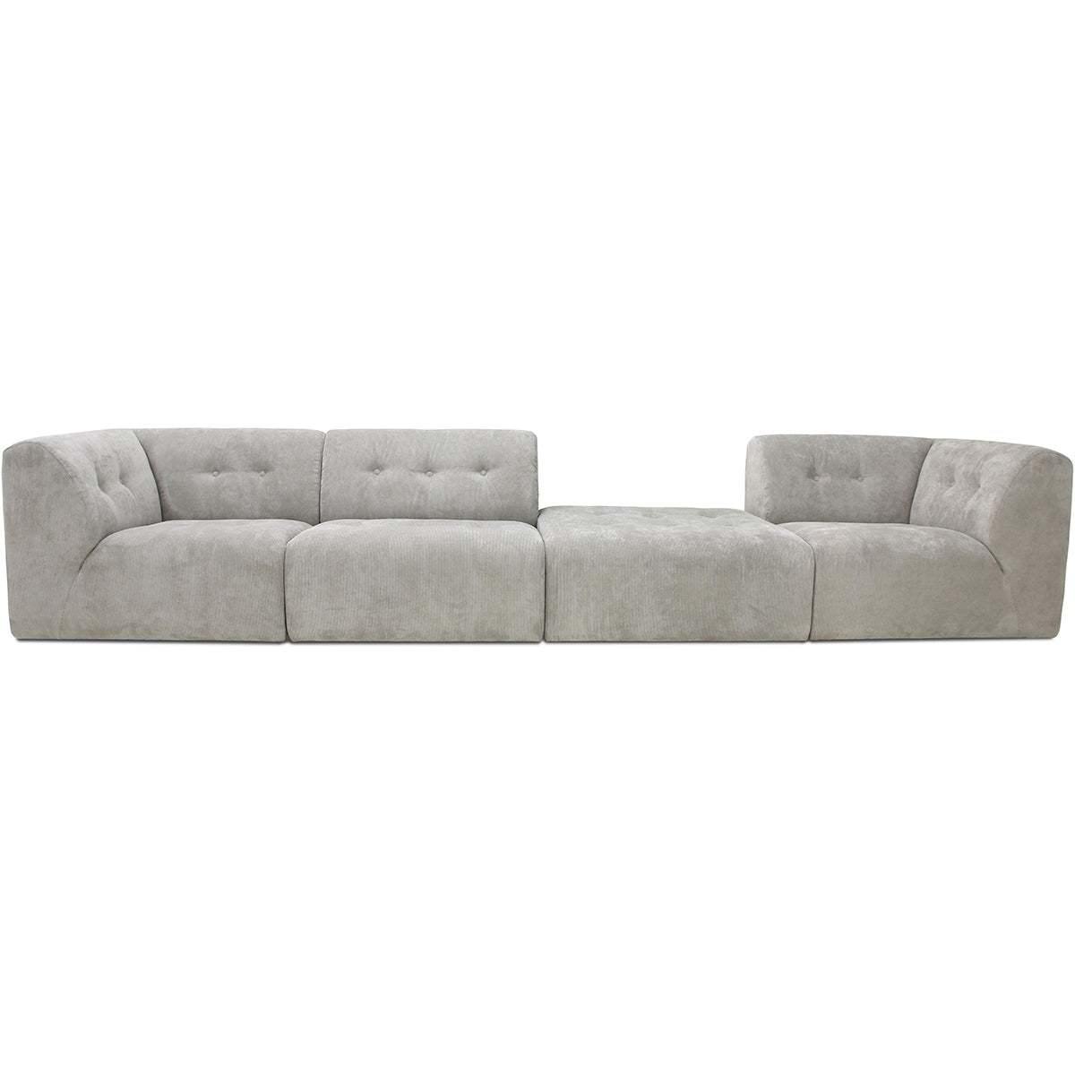 HK-Living vint couch: element right, corduroy rib, cream