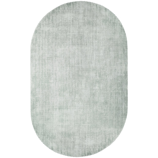 HK Living Oval Viscose Rug Mint Green