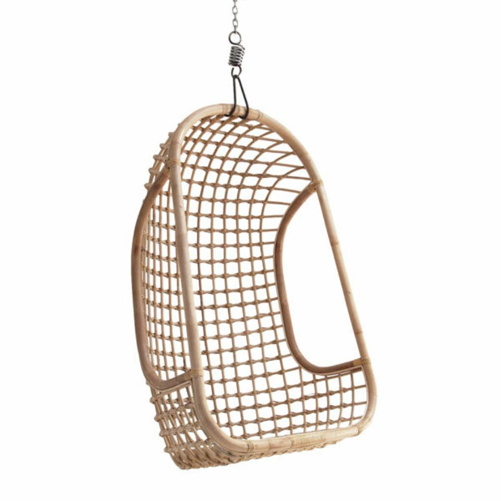 HK-Living  Hanging Rattan Chair Natural