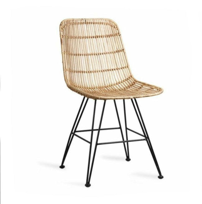 HK-Living rattan dining chair natural