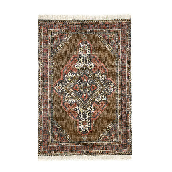 HK Living Printed Cotton/Jute Rug Stonewashed 180x280