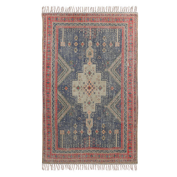 HK- Living Printed Rug Red/Blue Overtufted (150x240)