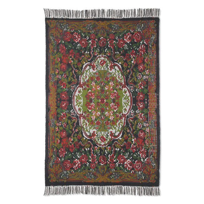 HK Living Printed Rose Kelim Rug 120x180