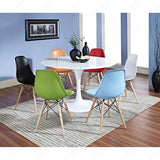 Charles Ray Eames Style DSW Side Chair  Green - Natural Legs
