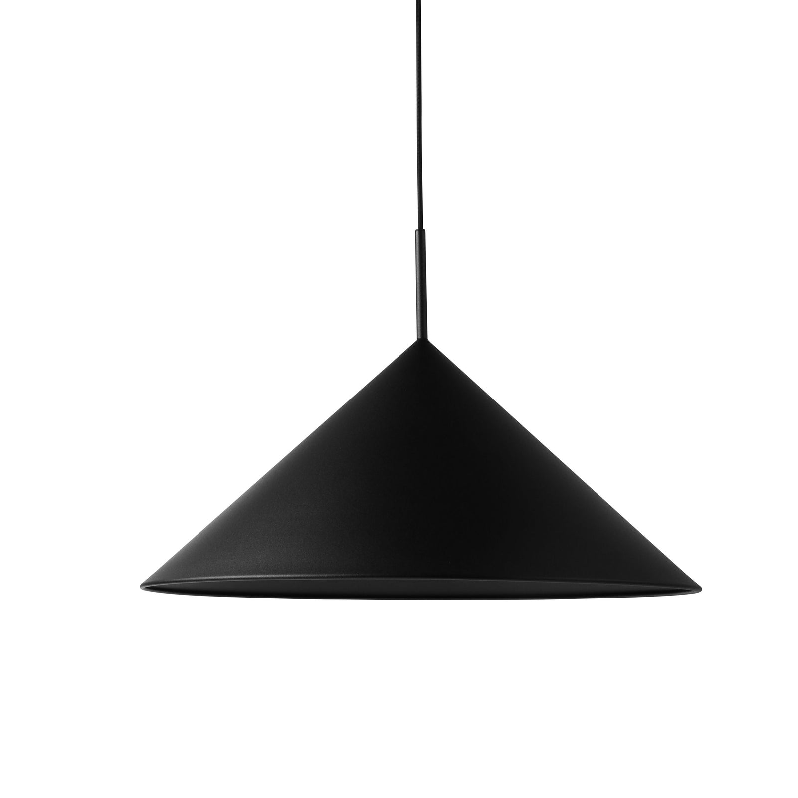 HK-Living metal triangle pendant lamp L matt black
