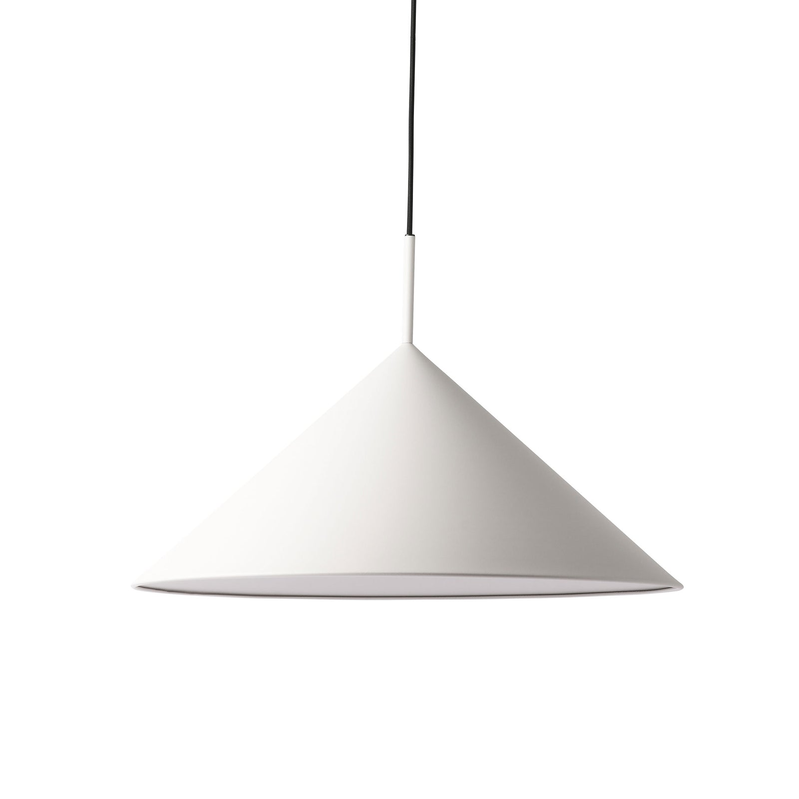 HK-Living metal triangle pendant lamp L matt warm grey