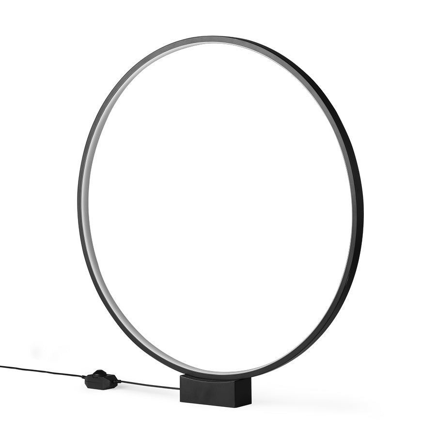 HK-Living Luminous Circle Table Lamp Black
