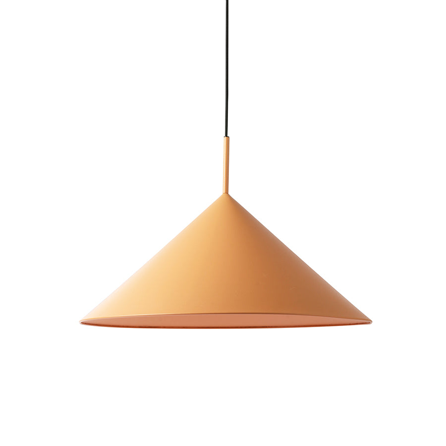 HK-Living metal triangle pendant lamp L matt peach