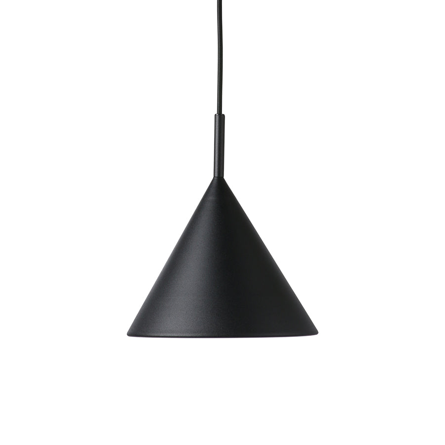 HK-Living metal triangle pendant lamp m matt black