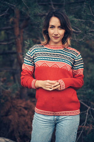 Inca Sweater - Red