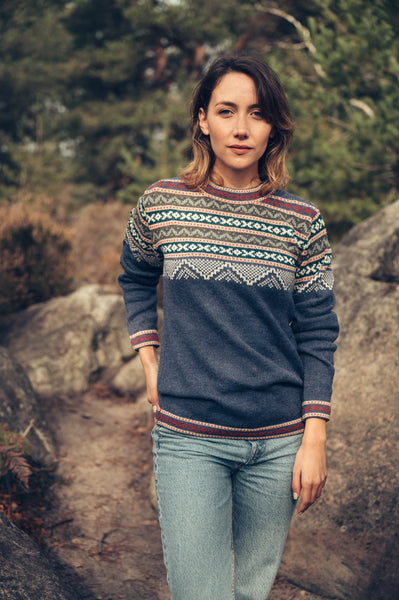 Inca Sweater - Denim Blue - Perús