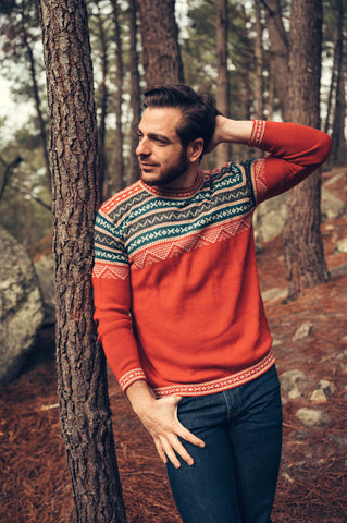 Inca Sweater - Red - Perús