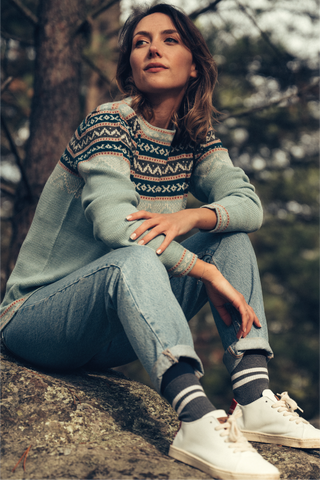 Inca Sweater - Mint - Perús