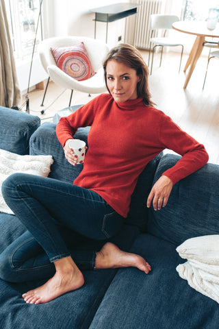 Roll Neck - Red - Woman