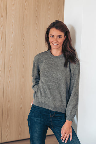 Round Neck - Grey - Woman - Perús
