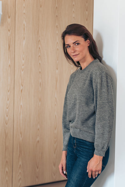 Round Neck - Grey - Woman