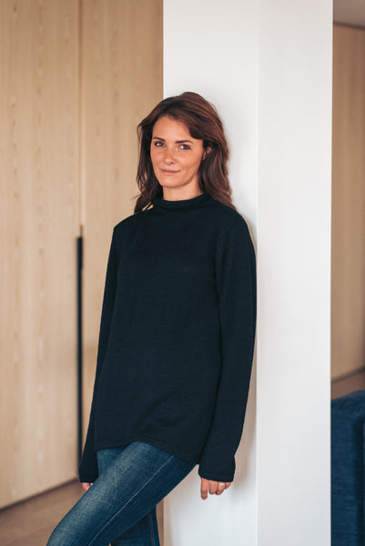 Roll Neck - Black - Woman - Perús