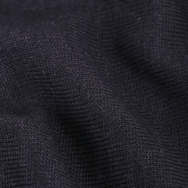 Round Neck - Navy Blue - Man - Perús