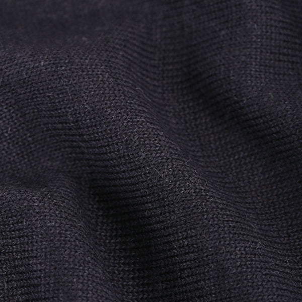 Button up collar - Navy Blue - Man