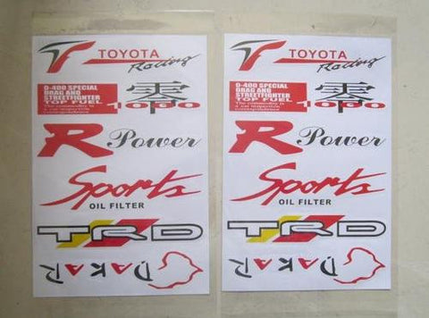 Racing Sport Sticker Kit 2 - VINYL STICKERS