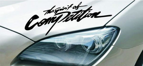 The Spirit of Competition Car Headlight Taillight Eyebrow Decal Vinyl Sticker - White