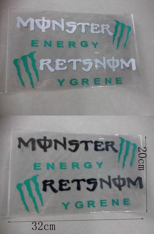 Monster Energy Car Headlight Taillight Eyebrow Decal Vinyl Sticker - White