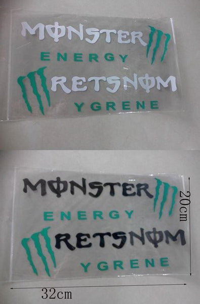 Monster Energy Car Headlight Taillight Eyebrow Decal Vinyl Sticker - Black
