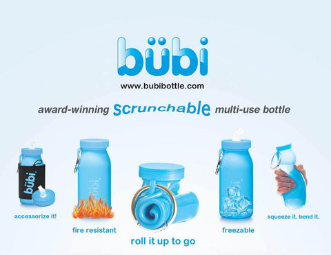 Bübi Bottle, A collapsible silicone water bottle like no other!