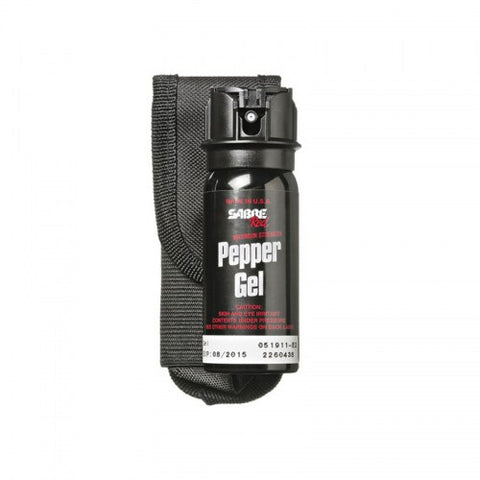 Sabre Red Tactical Pepper Gel With Flip Top & Belt Holster