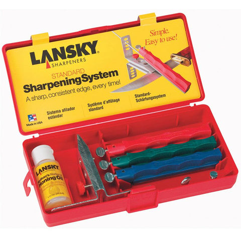 Lansky Standard Controlled Angle Sharpening Kit with 3 Hones