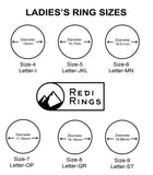 Redi Ring Ladies Black Silicone Ring Size available in 4-9
