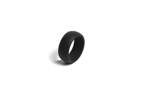 Redi Ring Mens Black Silicone Ring Size available 7-14