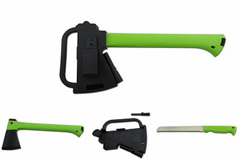 ULTRAEDGE 352mm AXE & SAW W/SHEATH & F/STARTER GREEN