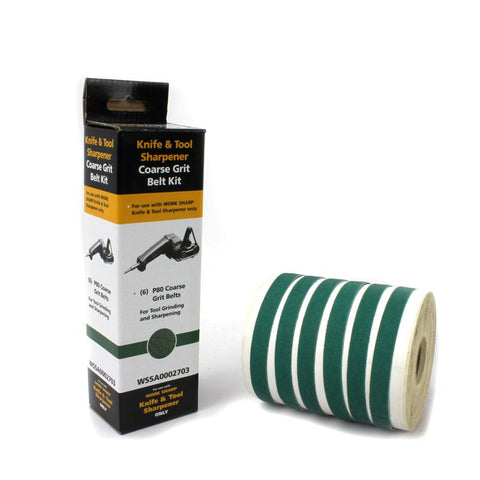 Work Sharp Belt Kit Coarse Grit P80 - 6 Pack