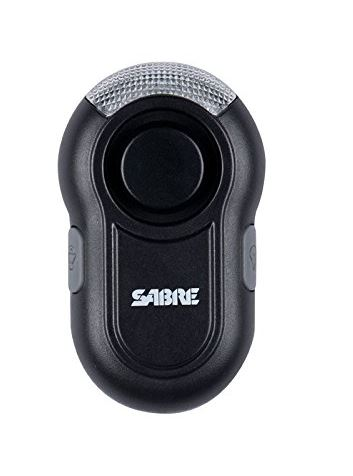 Sabre Red Personal Alarm w/Clip & LED Light Black
